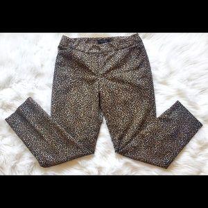 White House Black Market size 2 leopard pants